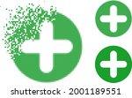 fragmented pixelated veterinary ... | Shutterstock .eps vector #2001189551