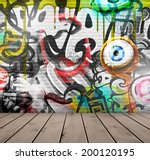 graffiti on wall  eps 10 | Shutterstock .eps vector #200120195