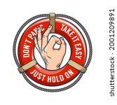 ok sign logo. okay lifebuoy...   Shutterstock .eps vector #2001209891