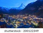 mountain matterhorn in zermatt  ...