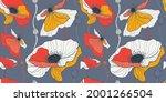 meadow fpr summer wild flowers. ... | Shutterstock .eps vector #2001266504