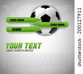 soccer symbol. football with... | Shutterstock .eps vector #200127911