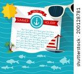 sea summer background. paper... | Shutterstock .eps vector #200128781