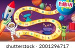 snake and ladders game template ... | Shutterstock .eps vector #2001296717