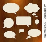 vector set speech paper bubble... | Shutterstock .eps vector #200130149