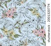botanical seamless pattern.... | Shutterstock .eps vector #2001320774