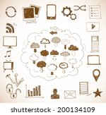 sketches of cloud computing... | Shutterstock .eps vector #200134109