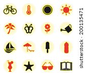 summer icons set.  | Shutterstock .eps vector #200135471