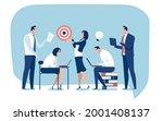 target. teamwork. the business... | Shutterstock .eps vector #2001408137