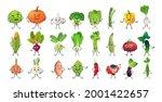 set cute vegetable characters... | Shutterstock .eps vector #2001422657
