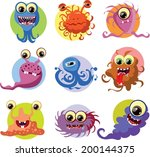 cartoon cute monsters and... | Shutterstock .eps vector #200144375