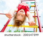 little girl having fun playing...   Shutterstock . vector #200147399