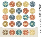 car service icon set retro... | Shutterstock .eps vector #200147705