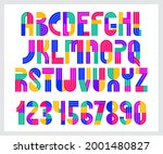 children colorful geometric... | Shutterstock .eps vector #2001480827