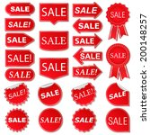 set of red sale stickers | Shutterstock . vector #200148257
