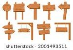 wooden signboards. empty wood...   Shutterstock .eps vector #2001493511