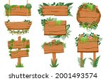 jungle wooden signboards. wood...