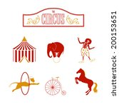 vector illustration of circus... | Shutterstock .eps vector #200153651