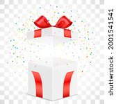 white gift box with exploded... | Shutterstock .eps vector #2001541541