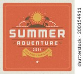 summer holidays vector... | Shutterstock .eps vector #200154911