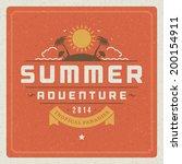 summer holidays vector... | Shutterstock .eps vector #200154911