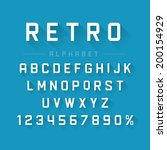 retro type font vintage... | Shutterstock .eps vector #200154929