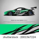 racing car wrap design vector... | Shutterstock .eps vector #2001567224