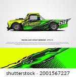 racing car wrap design vector... | Shutterstock .eps vector #2001567227