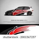 racing car wrap design vector... | Shutterstock .eps vector #2001567257