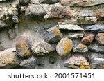Old Crumbling Masonry Wall With ...