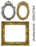 Floral Goldand Silver Frame...