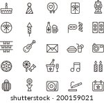 birthday party icons | Shutterstock .eps vector #200159021