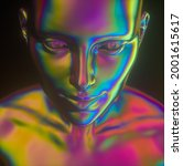 3d illustration of mannequin... | Shutterstock . vector #2001615617