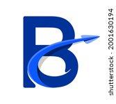 letter alphabet b logo arrow...
