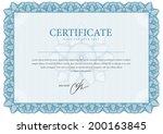 border template diplomas ... | Shutterstock .eps vector #200163845