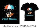 car diver sky diving t shirt...   Shutterstock .eps vector #2001645704