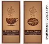 vector coffee background with... | Shutterstock .eps vector #200167544