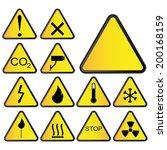 symbols triangular warning... | Shutterstock .eps vector #200168159
