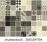 set of abstract seamless...   Shutterstock .eps vector #200169704