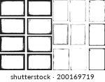 set of grunge frames  | Shutterstock .eps vector #200169719