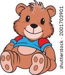 stuffed animal vector...   Shutterstock .eps vector #2001703901