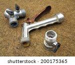 three used metal garden hose...   Shutterstock . vector #200175365