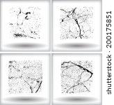 set of grunge squares. vector...   Shutterstock .eps vector #200175851