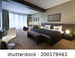 Stock photo luxury bedroom interior 200178461