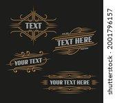 set of art deco ornate frames... | Shutterstock .eps vector #2001796157