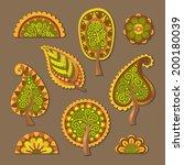 decorative flat style vector... | Shutterstock .eps vector #200180039