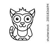 lemur icon. icon design.... | Shutterstock .eps vector #2001826694