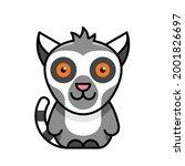 lemur icon. icon design.... | Shutterstock .eps vector #2001826697
