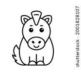 horse icon. icon design.... | Shutterstock .eps vector #2001828107