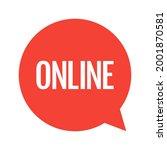 online stream. red symbol of... | Shutterstock .eps vector #2001870581